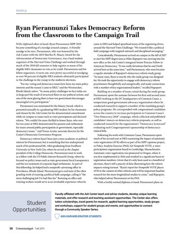 Page 20 of Taking Democracy Reform from the Classroom to the Campaign Trail