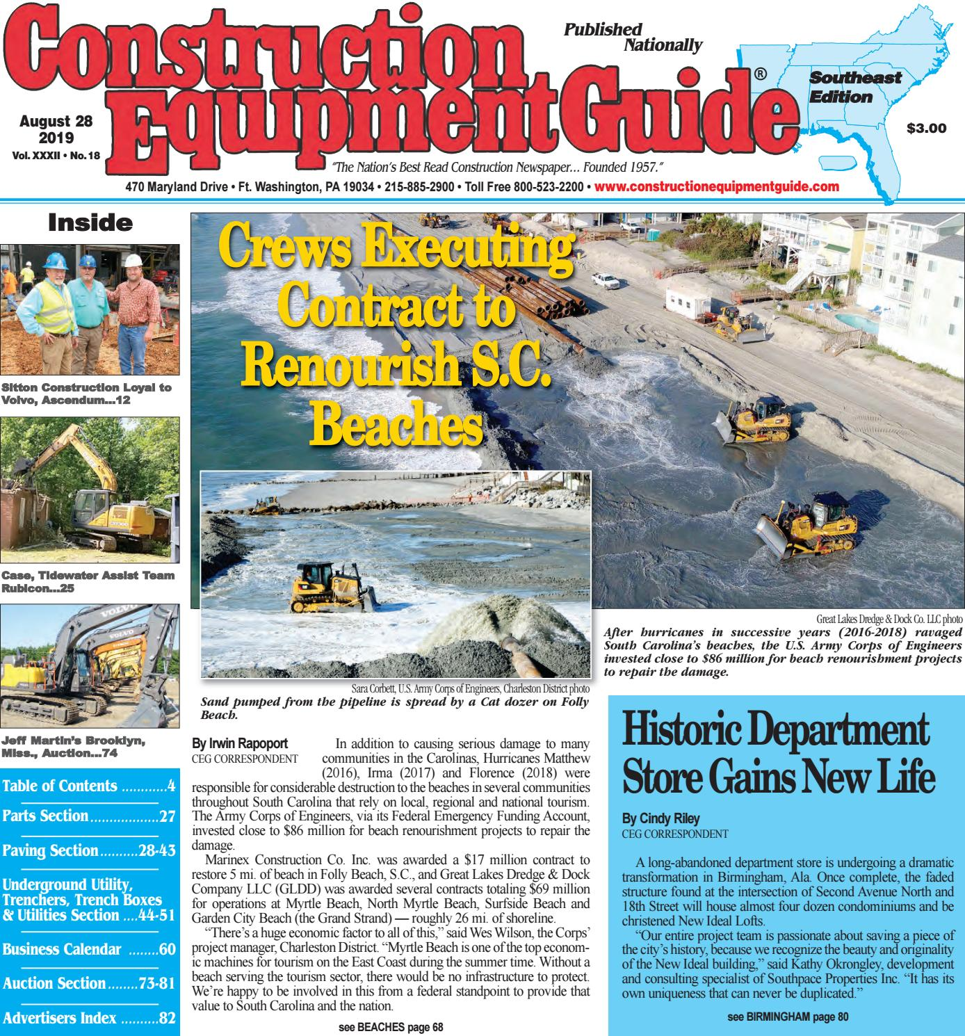 Southeast 18 August 28, 2019 by Construction Equipment Guide