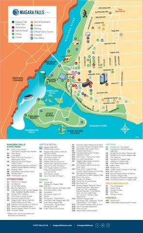 Map Of Downtown Niagara Falls Canada Downtown Niagara Falls USA Walking Map by Destination Niagara USA