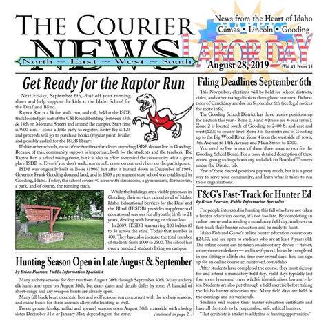 Owyhee County Fair 2020.Courier News Vol 43 Num 35 By Edward Reagan Issuu