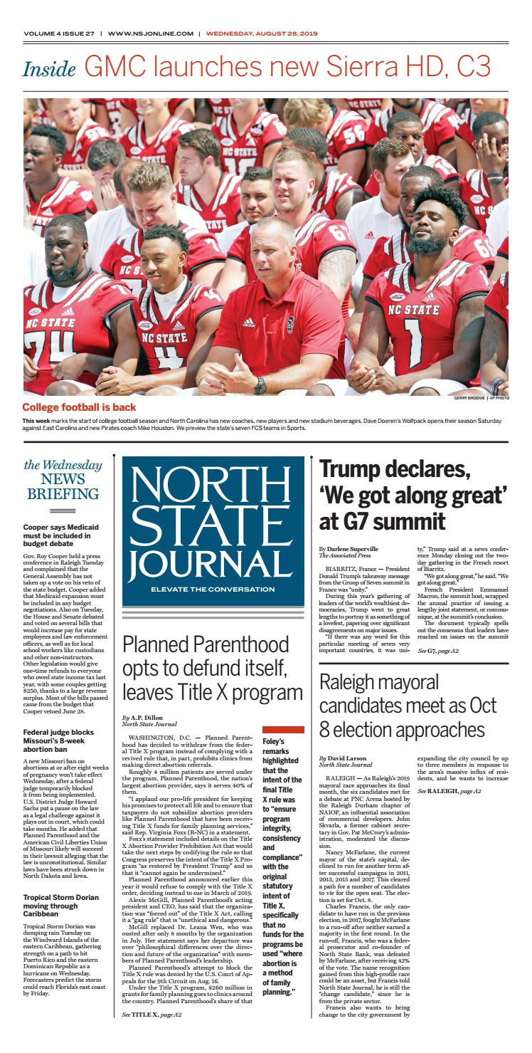 North State Journal Vol  4, Issue 27 by North State Journal