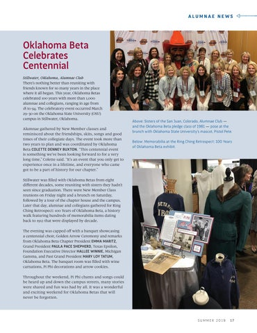 Page 19 of Oklahoma Beta Celebrates Centennial