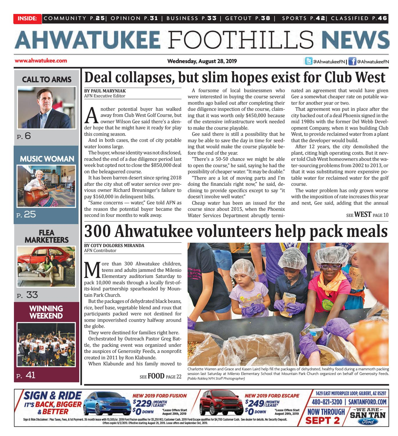 Ahwatukee Foothills News - August 28, 2019 by Times Media