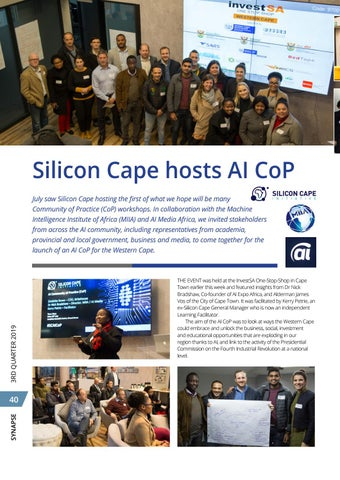 Page 44 of Silicon Cape hosts AI CoP (Community of Practice)