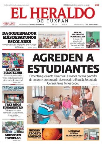 El Heraldo De Tuxpan 28 De Agosto De 2019 By Poza Acme Issuu