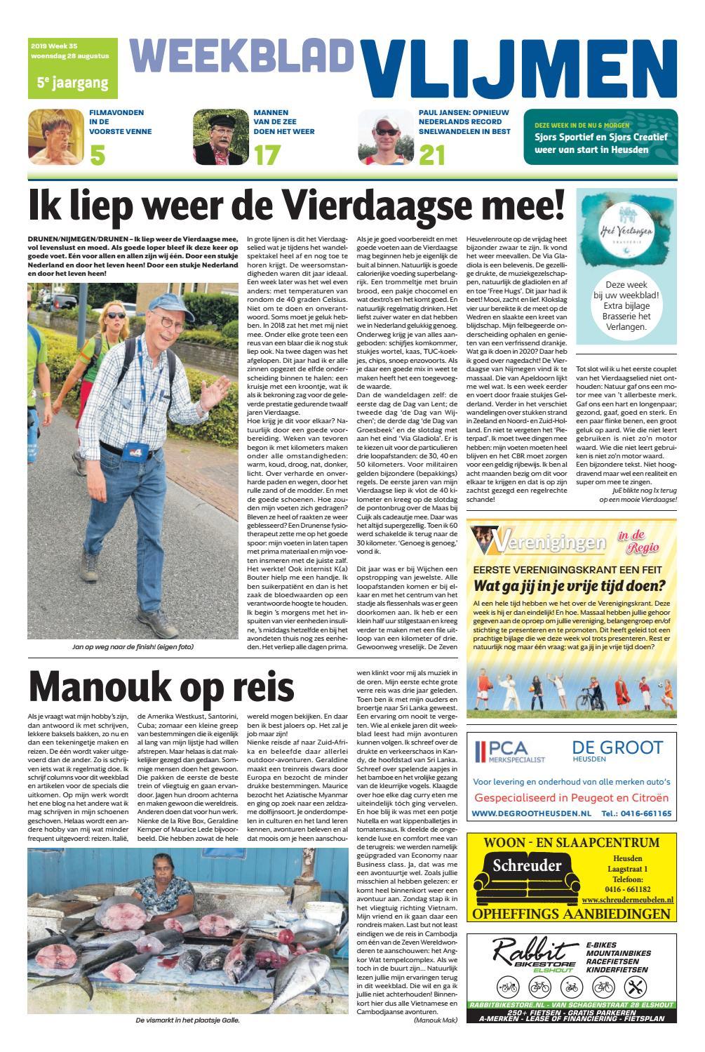 Weekblad Vlijmen 28 08 2019 By Uitgeverij Em De Jong Issuu