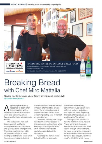 Page 72 of Breaking Bread with Chef Miro Mattalia