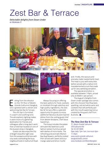 Page 85 of Zest Bar & Terrace
