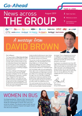 Page 1 of News Across the Group - August 2019 edition