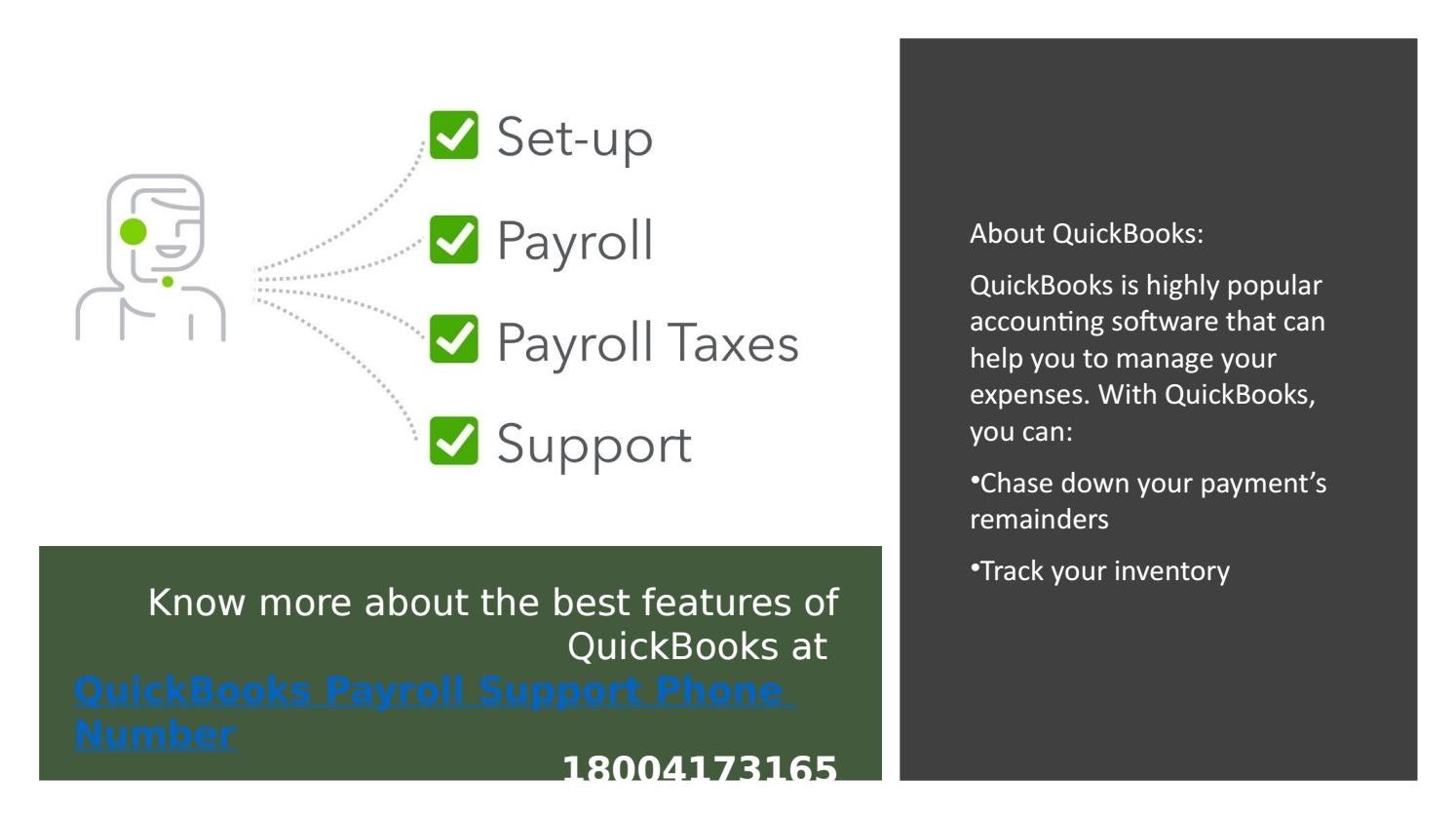 Dial QuickBooks Support Phone Number 18004173165 in case you