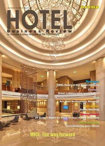 Hotel Business Review (July-August 2019) by Hammer