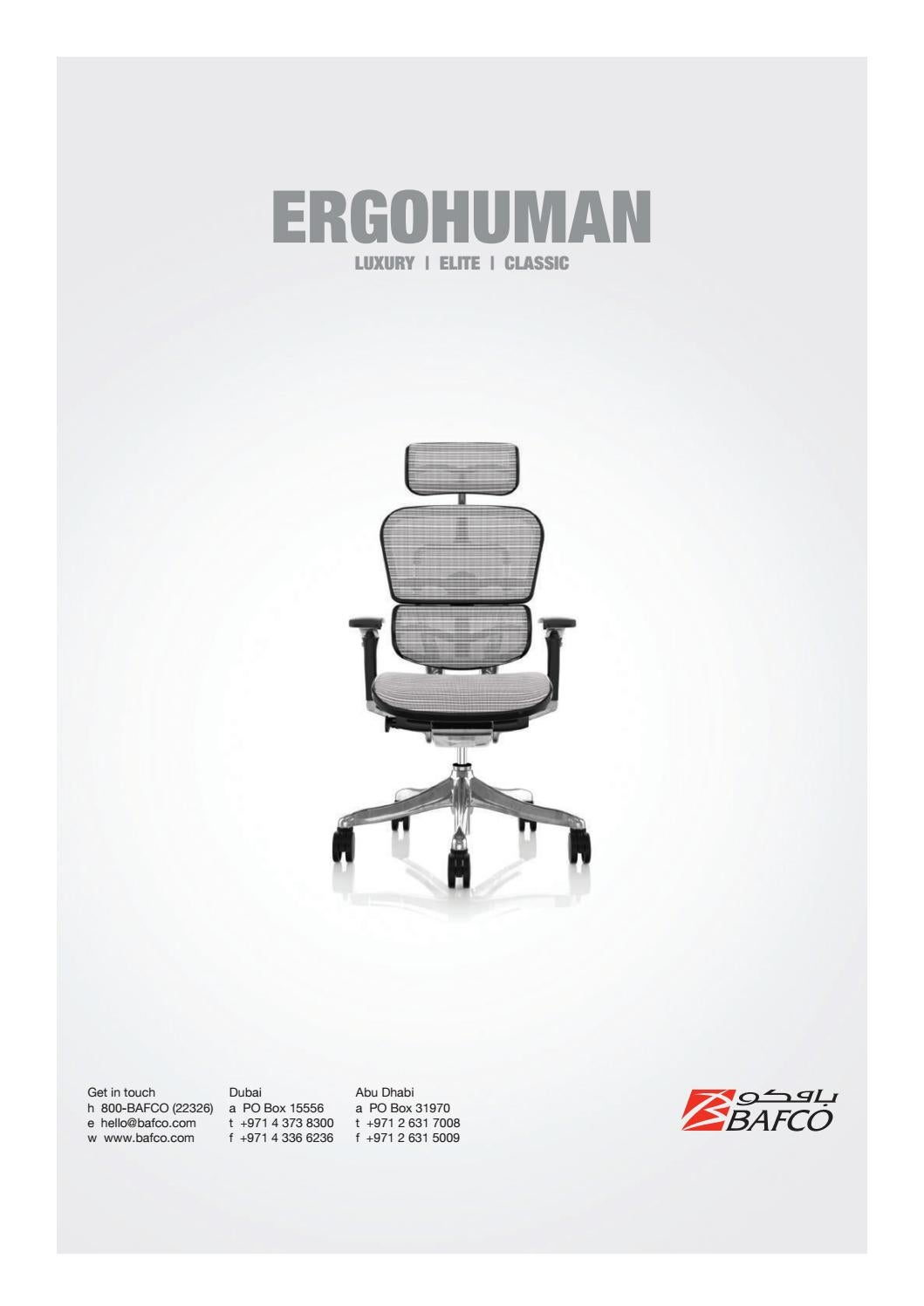 Enjoy Ergonomic Chair 2019 By Bafco Issuu