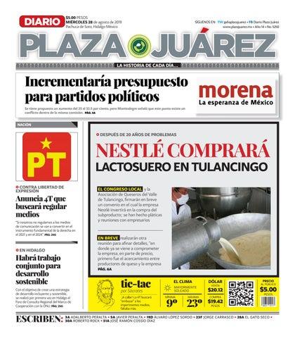 28 08 19 by Diario Plaza Juárez issuu