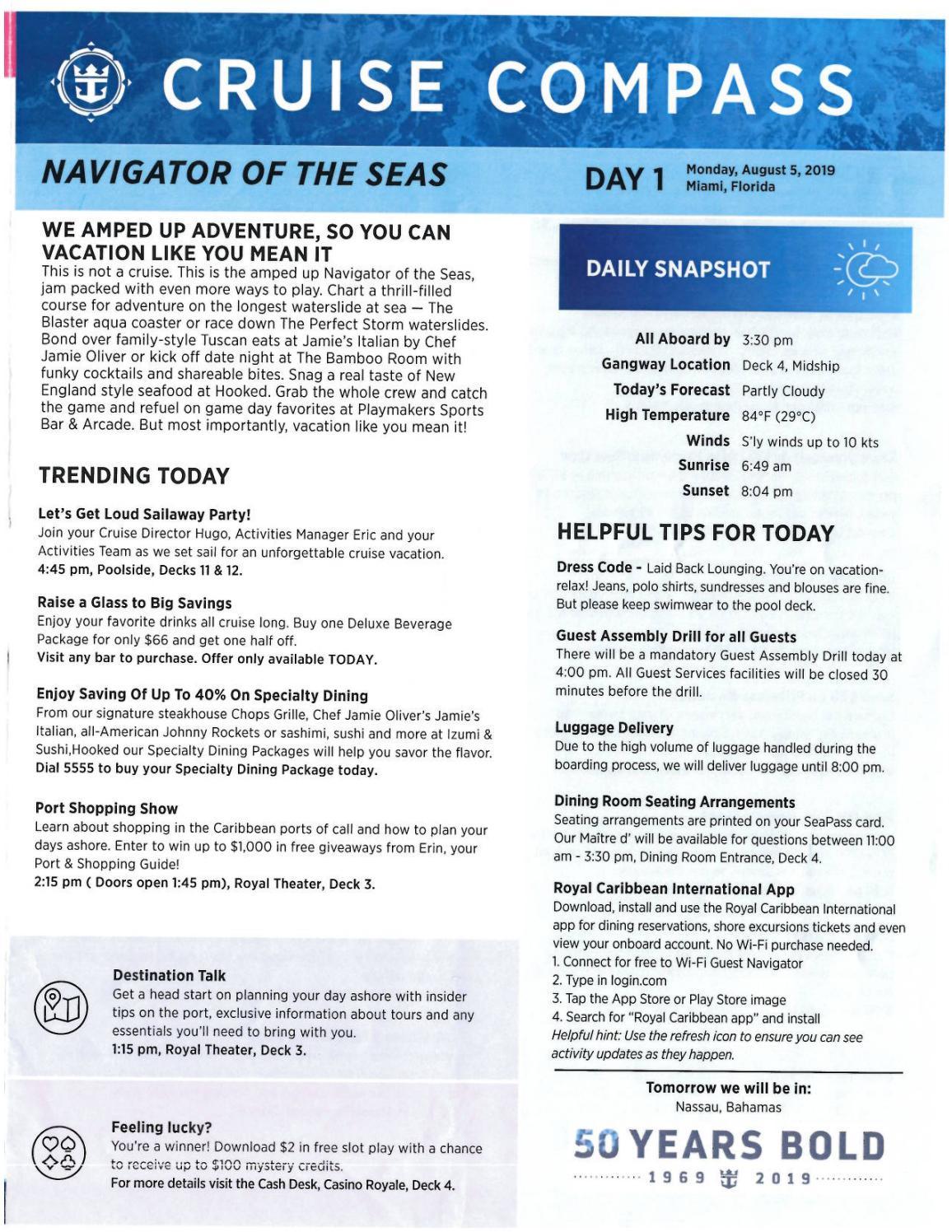 Navigator Of The Seas 4-night Bahamas And Perfect Day At