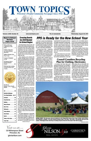 Town Topics Newspaper, August 28 by Witherspoon Media Group