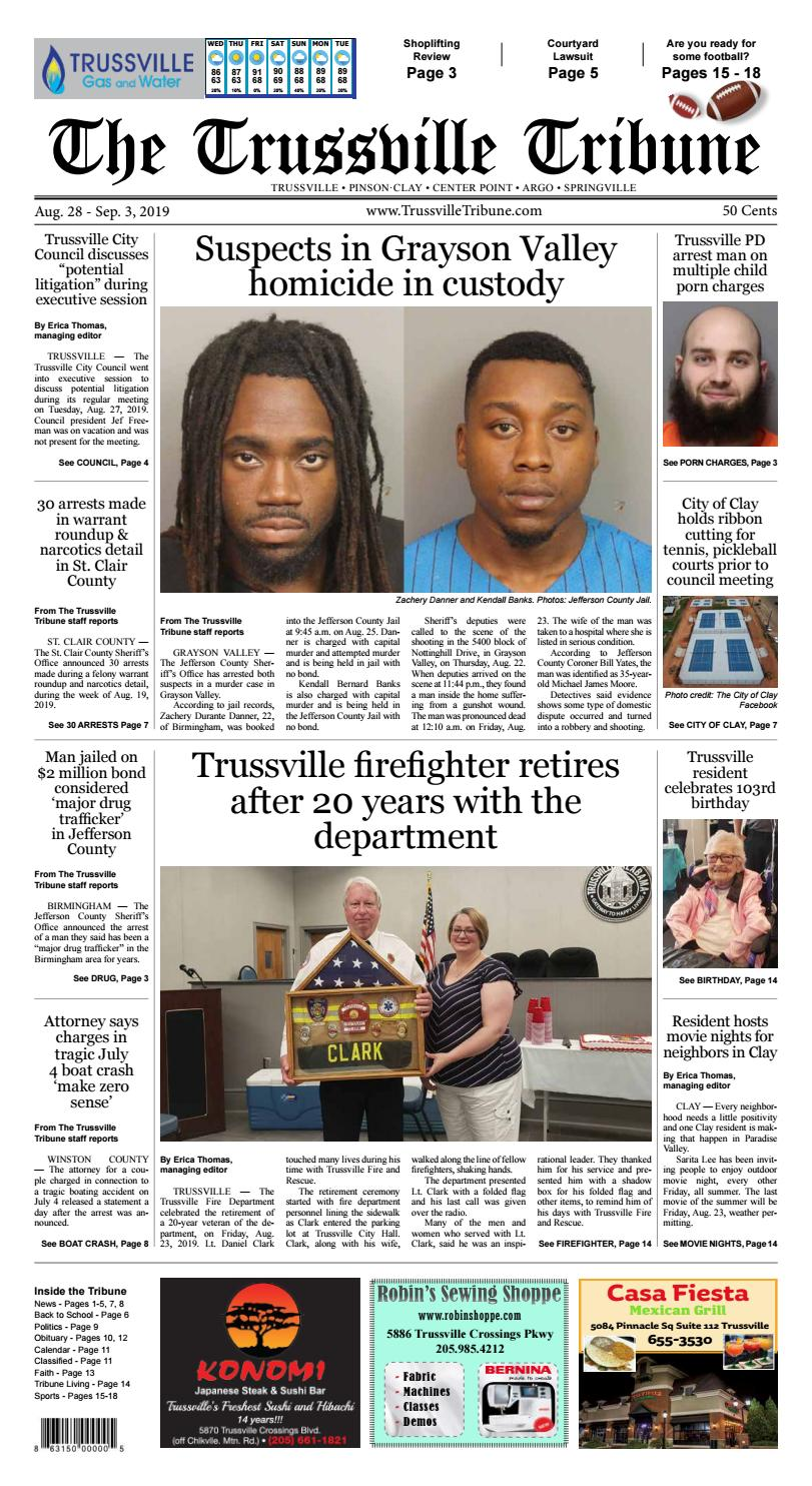 The Trussville Tribune - Aug  28 - Sep  3, 2019 by Mike