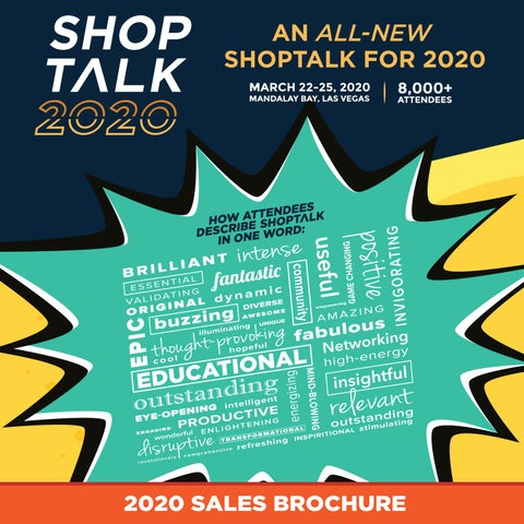 Shoptalk 2020 Sales Brochure (with pricing) by Shoptalk - issuu