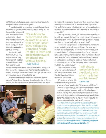 Page 5 of JFS Community Rabbi Provides Spiritual Support in Times of Need