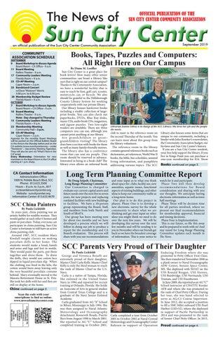 News of Sun City Center September 2019 by The News of Sun