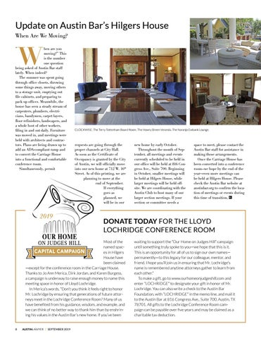 Page 8 of Update on Austin Bar's Hilgers House