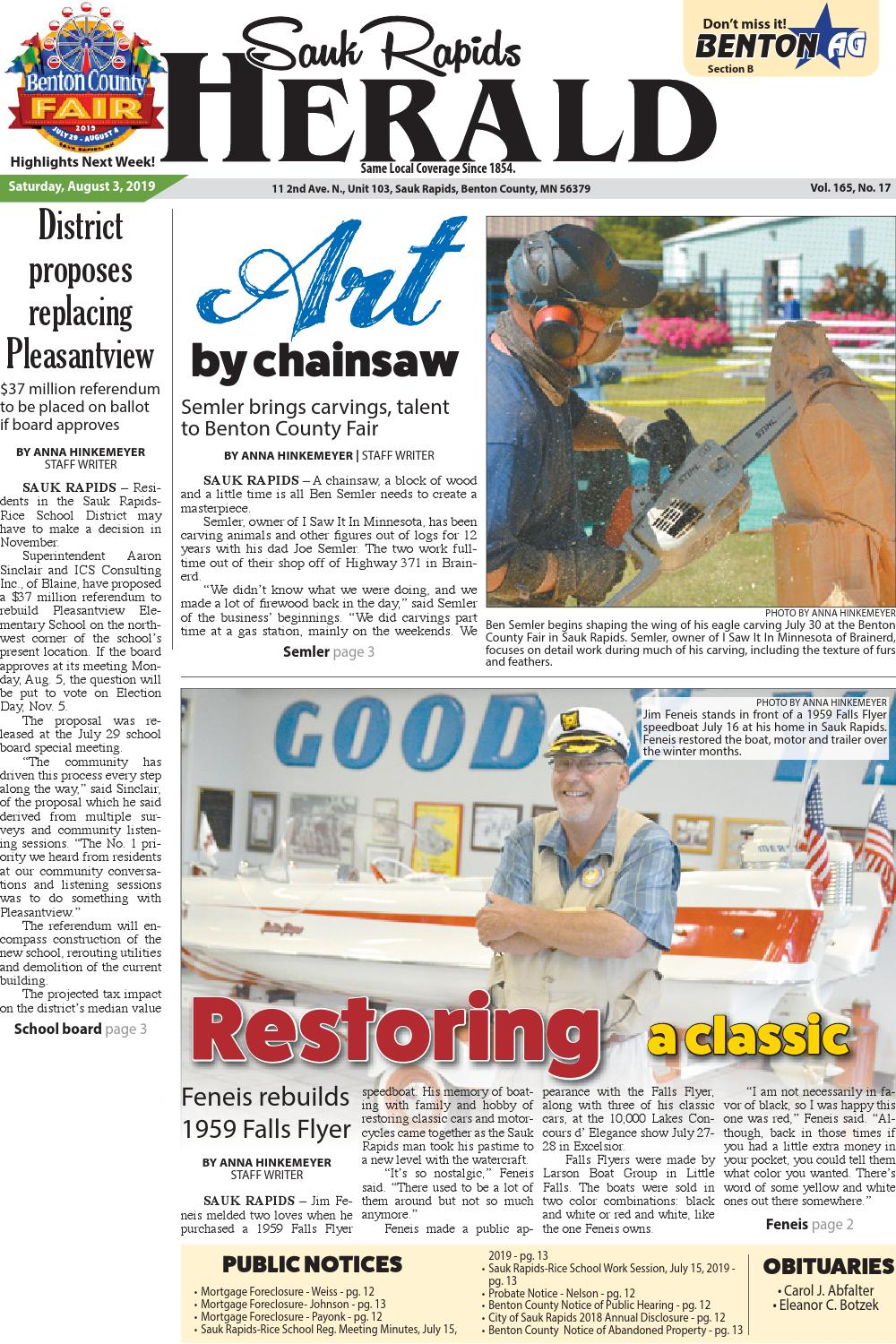 Sauk Rapids Herald - August 3 edition by Star Publications