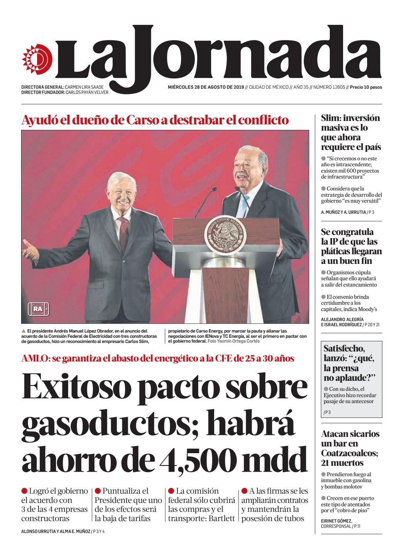 La Jornada 08 28 2019 By La Jornada Issuu