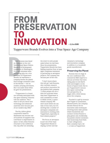 Page 20 of From Preservation to Innovation - Tupperware Brands Evolves into a True Space-Age Company