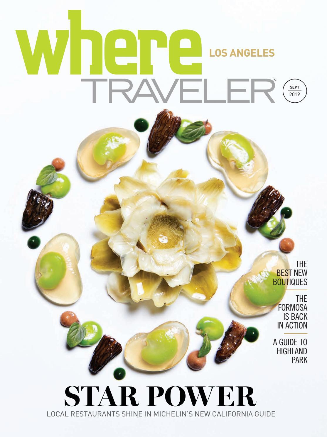 Where Traveler Los Angeles Magazine Sept 2019 By