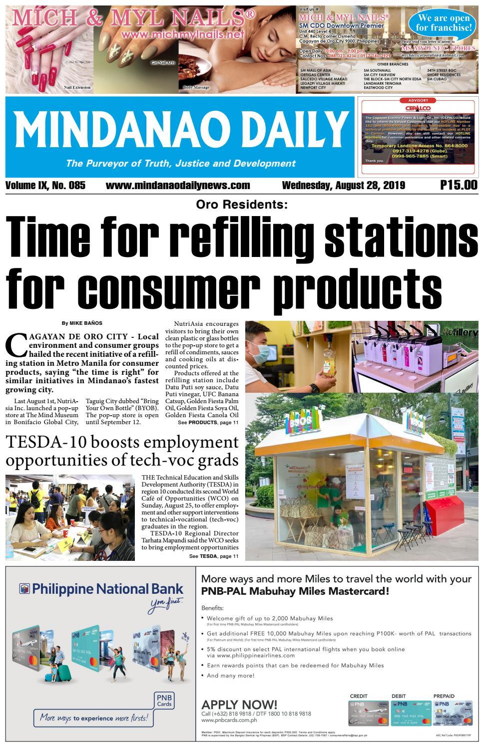 Mindanao Daily (August 28, 2019) by Mindanao Daily News - issuu