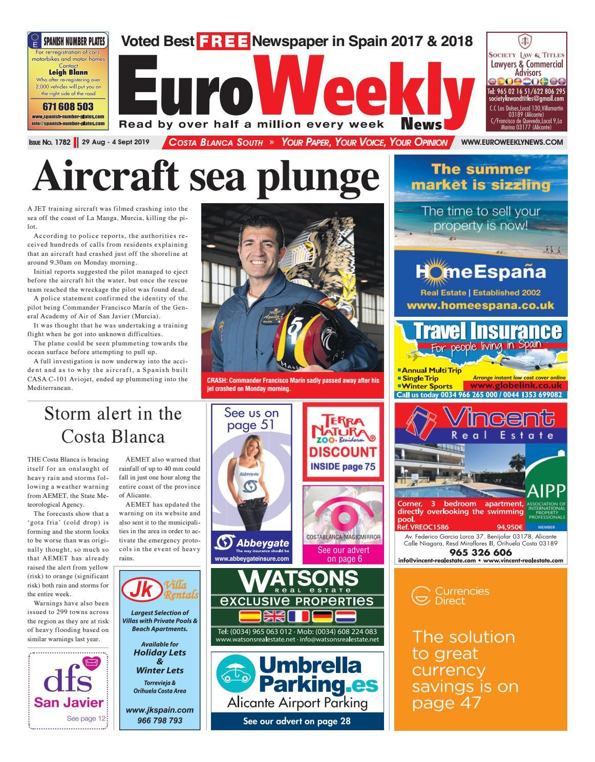 Euro Weekly News Costa Blanca South