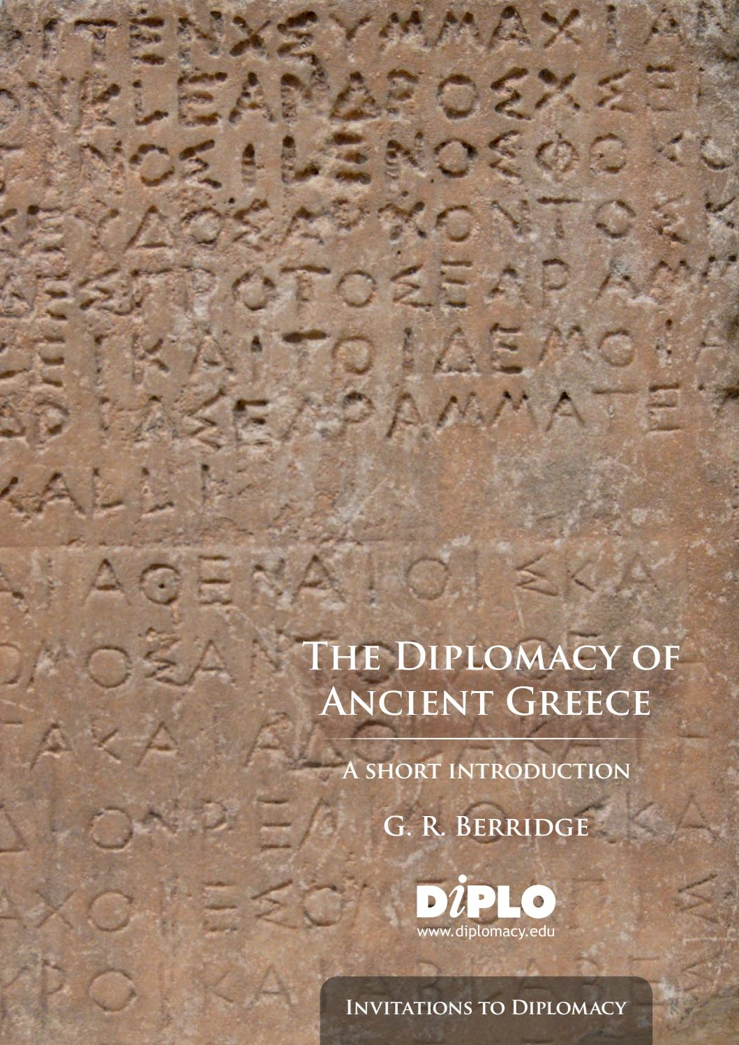 The Diplomacy of Ancient Greece by DiploFoundation - issuu