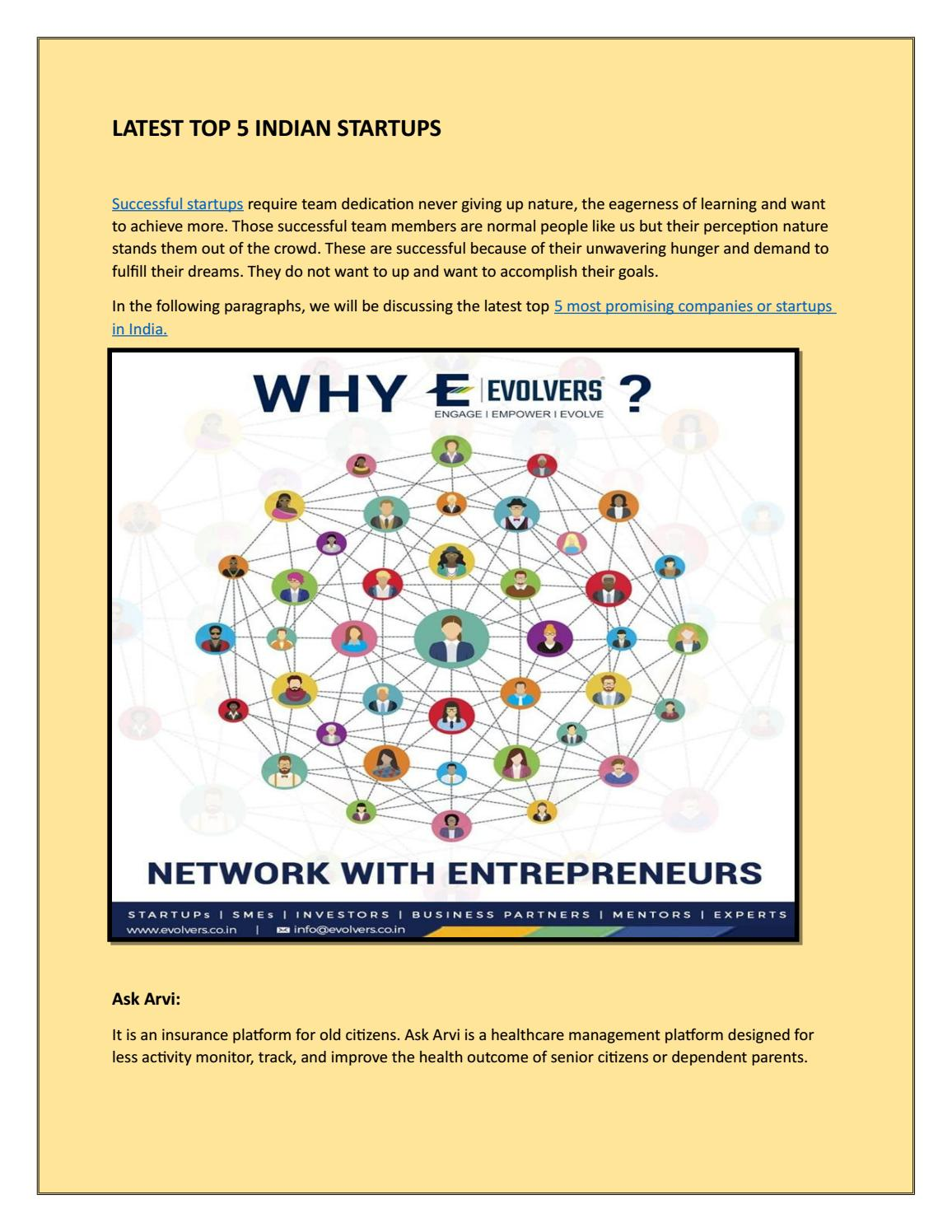 New Business Ideas By Evolvers Issuu