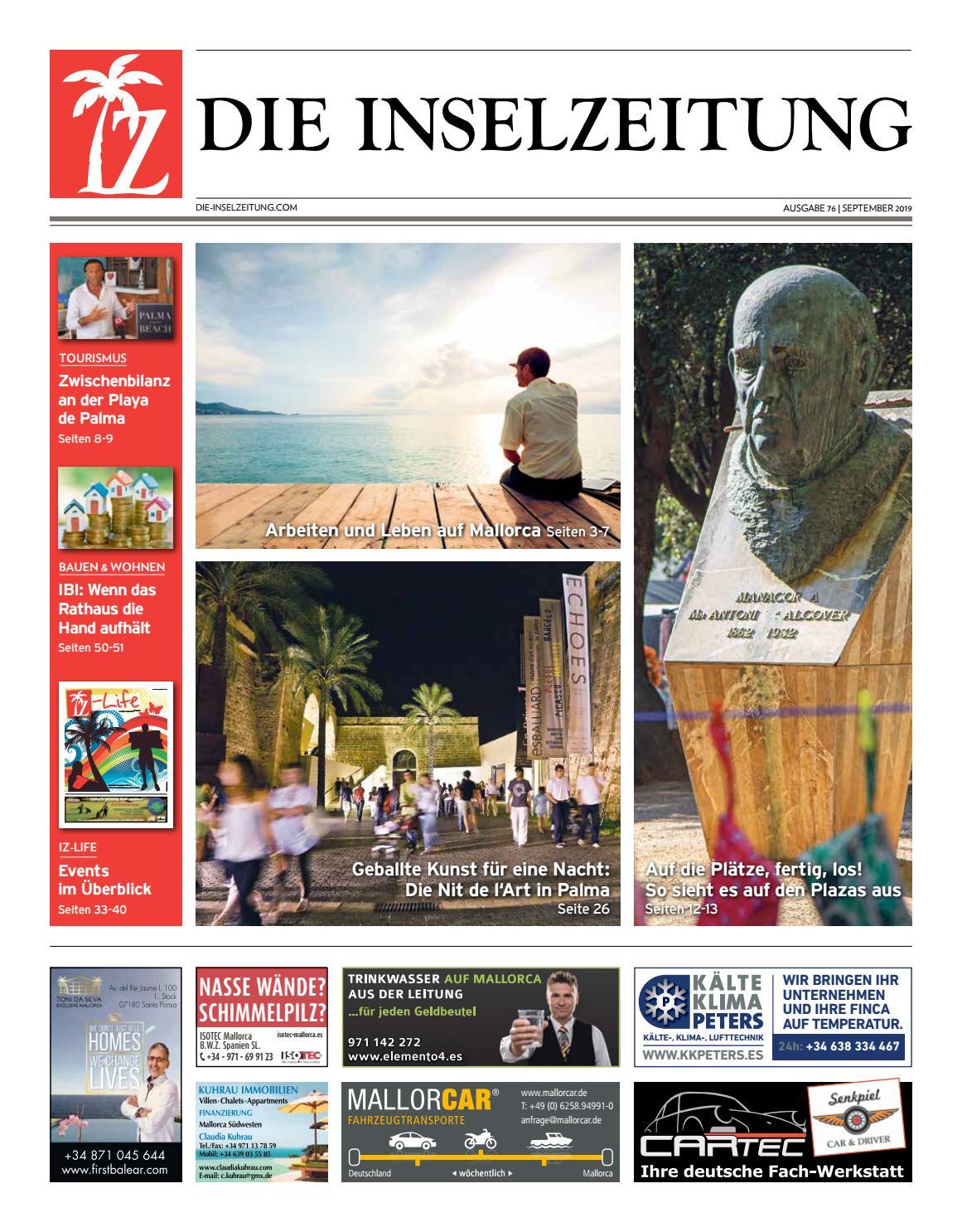 Die Inselzeitung Mallorca September 2019 by Die Inselzeitung