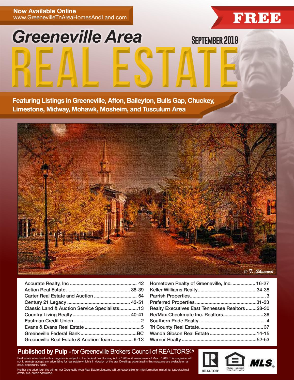 Greeneville Tn Area Homes by Real Estate Magazines - issuu