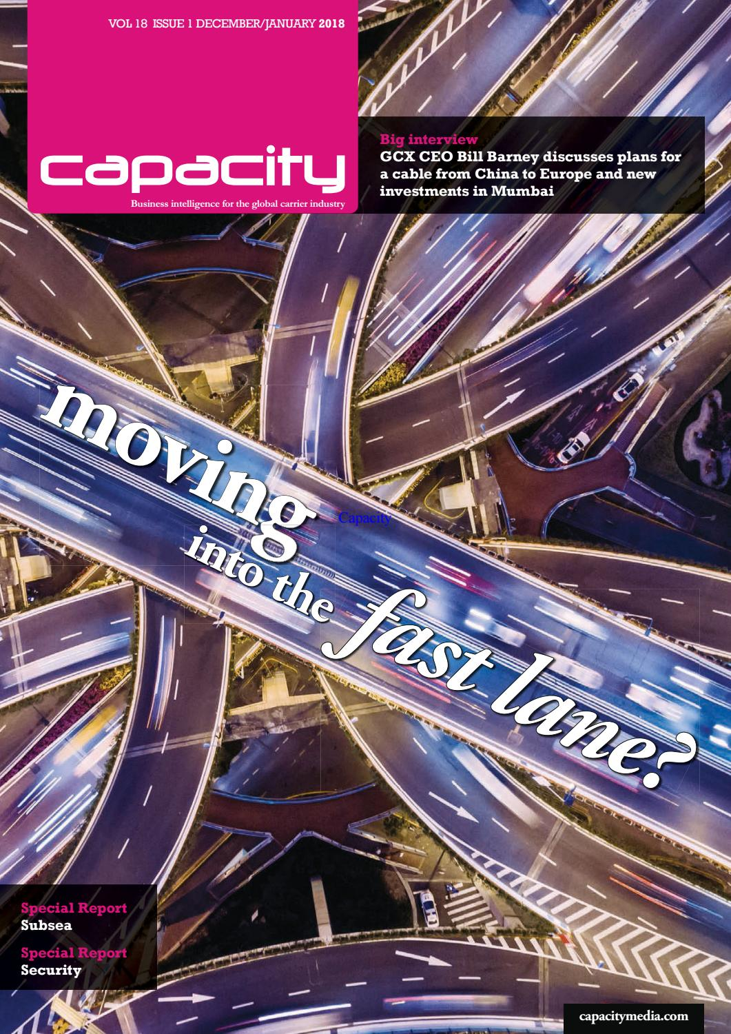 Capacity Magazine December January 2018 By Capacity Media Issuu