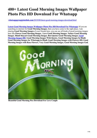 Latest Good Morning Images Wallpaper Photo Pics Hd Download For Whatsapp By Whatsapp Group Joins Link Issuu