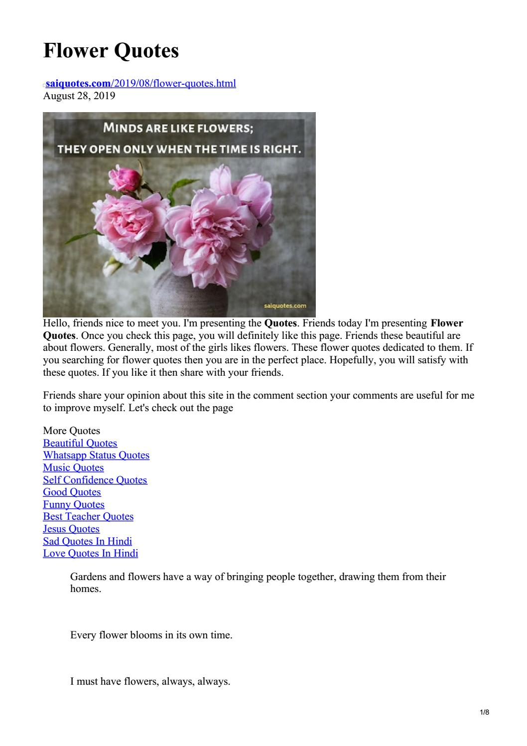 flower quotes by saiquotes issuu