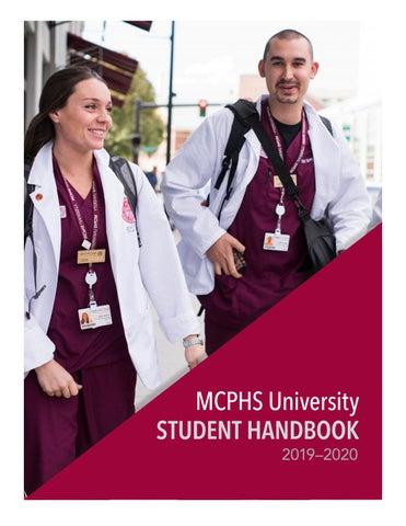 Mcphs Pa Program >> 2019 2020 Mcphs University Student Handbook By Massachusetts