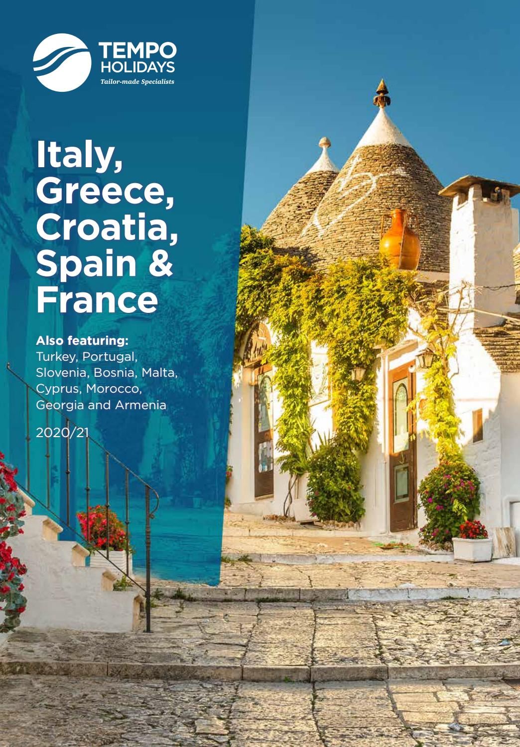 Tempo Holidays 2020 The Mediterranean Brochure Italy Greece Croatia Spain France By Cox And Kings Issuu