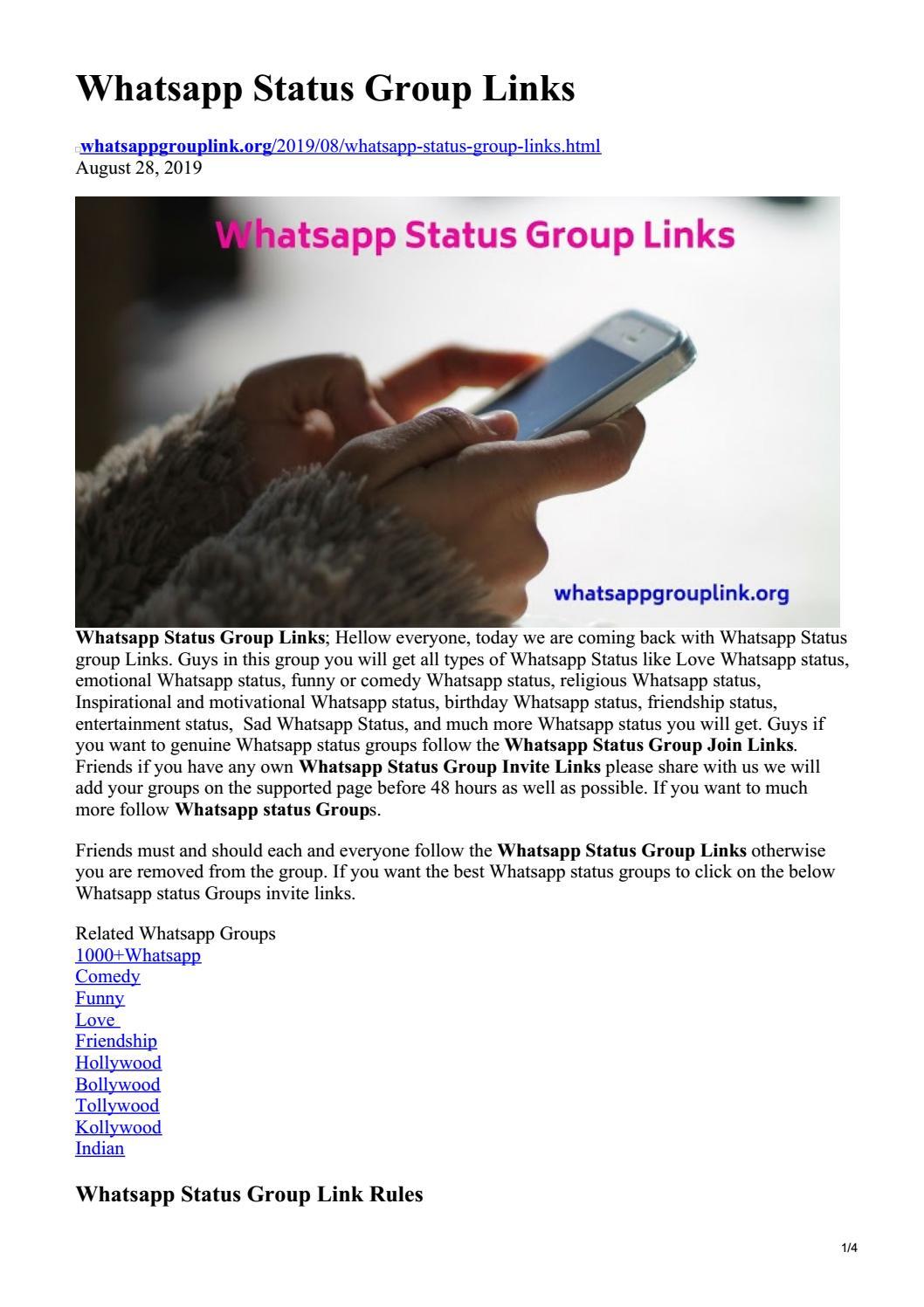 Httpswwwwhatsappgrouplinkorg201908whatsapp Status