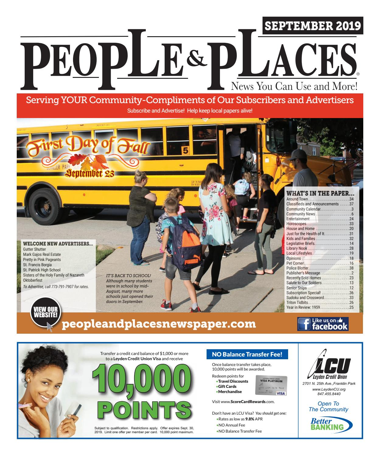 September 2019 People & Places Newspaper by Jennifer