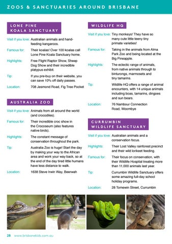 Page 30 of Where to see animals in Brisbane