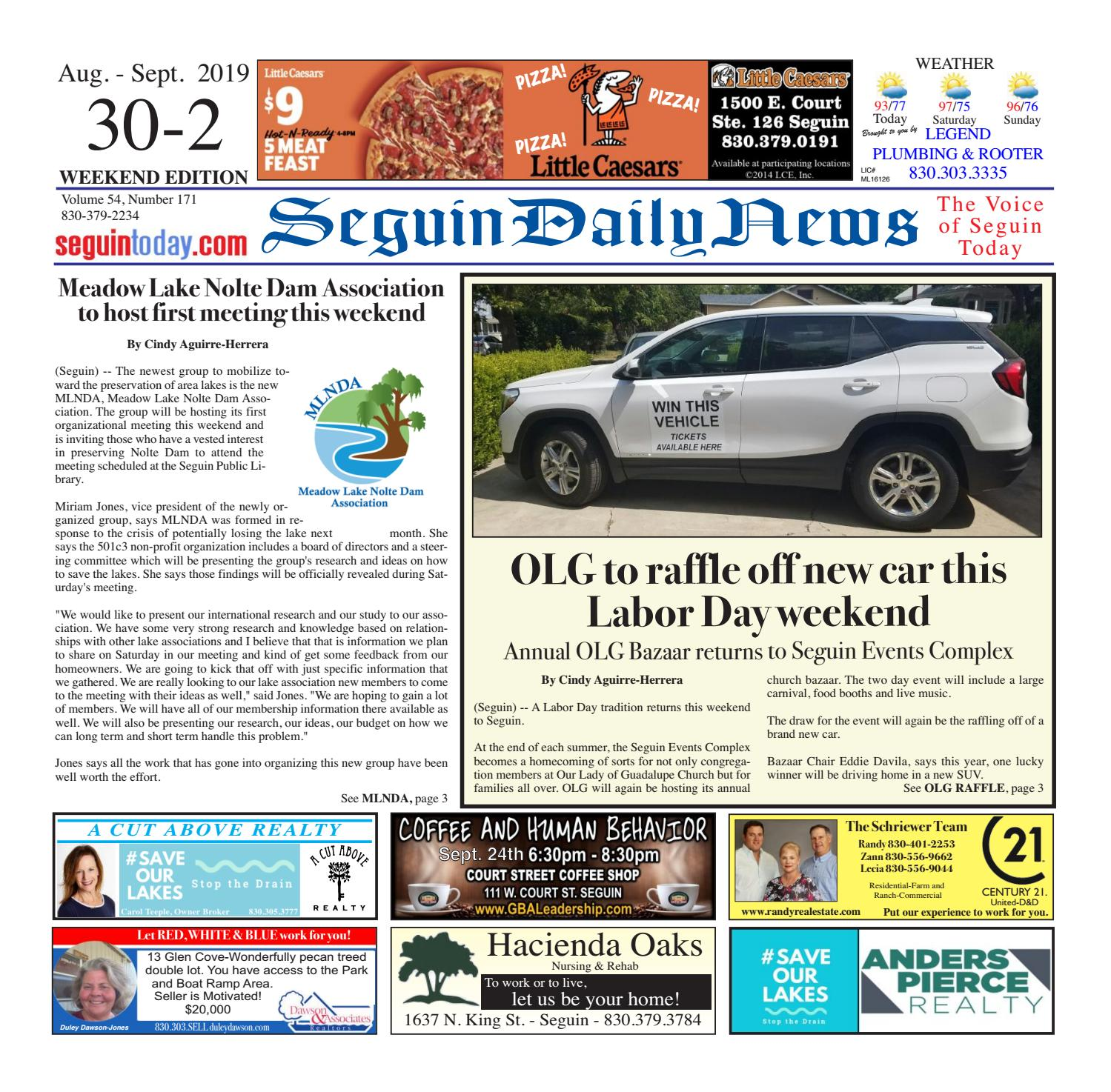 SDN, August 30-September 2, 2019 by Seguin Daily News - issuu