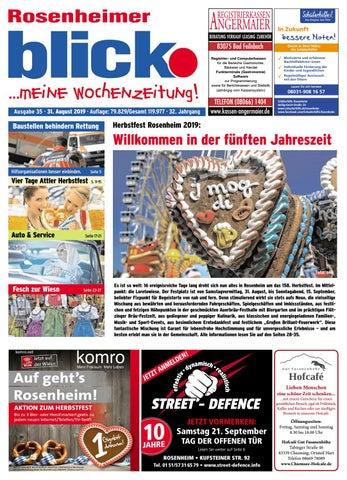 Rosenheimer Blick Ausgabe 35 | 2019 by Blickpunkt Verlag