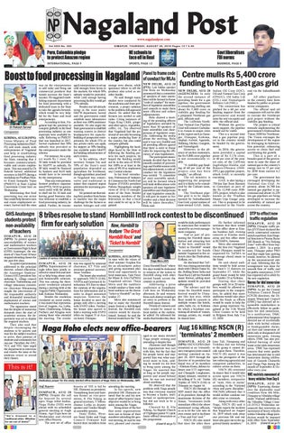 August 29, 2019 by Nagaland Post - issuu
