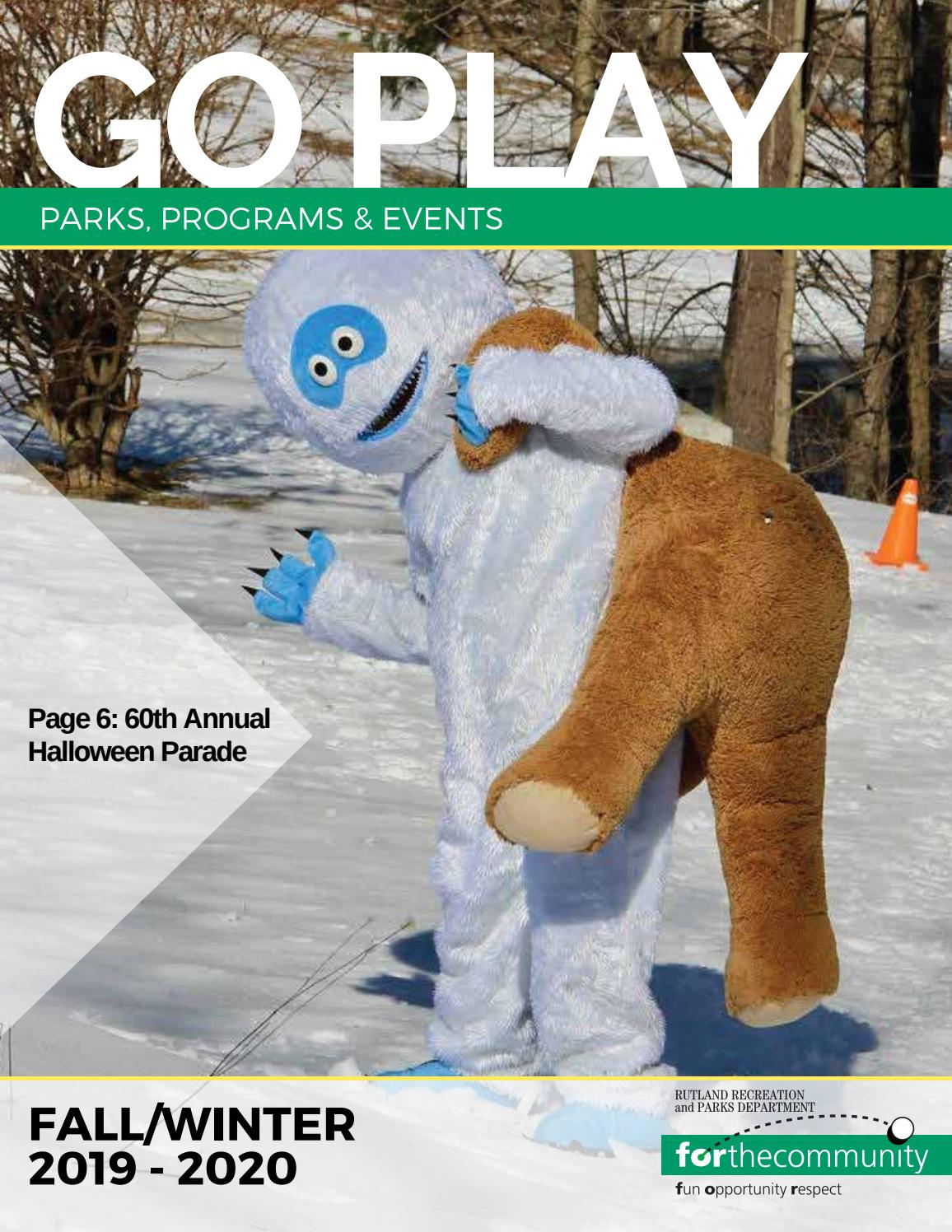 Events Rutland Vt October 13 2020.Fall Winter Go Play Guide 2019 2020 By Rutland Recreation
