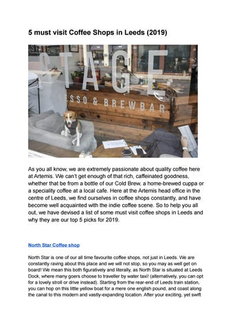 Our Must Visit Coffee Shops In Leeds 2019 By Sophie Gregan