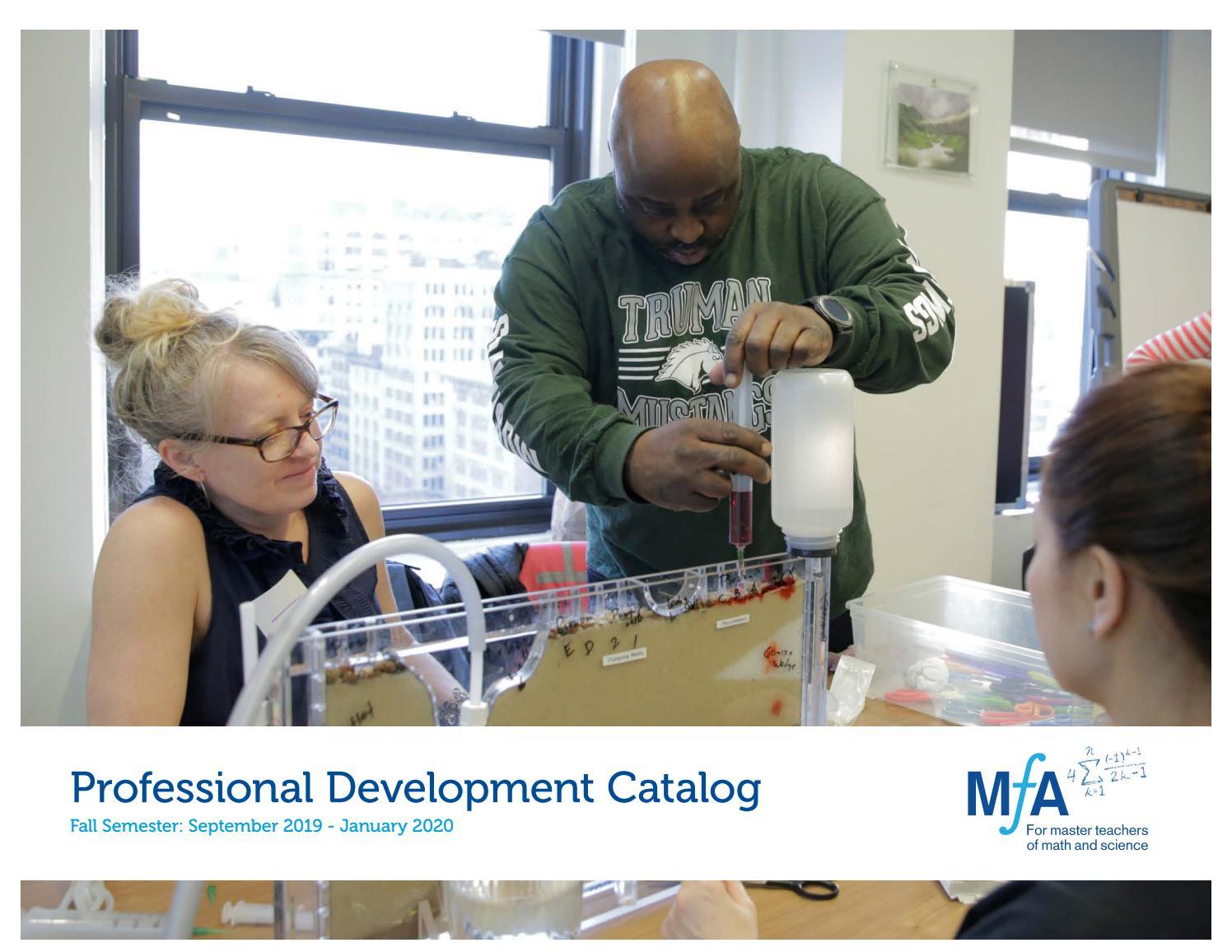 MƒA Fall 2019 Professional Development Course Catalog by