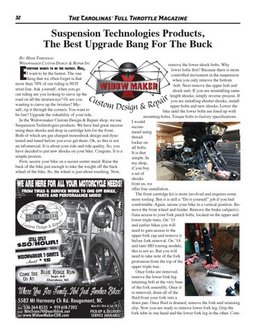 Page 32 of Suspension Technologies Products, The Best Upgrade Bang For The Buck