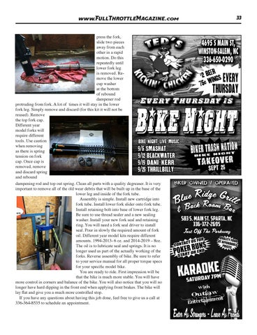 Page 33 of Suspension Technologies Products, The Best Upgrade Bang For The Buck